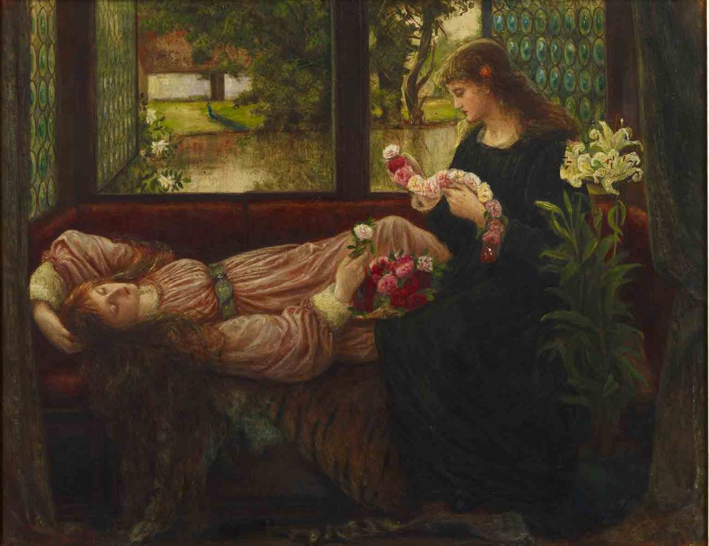 A Wreath of Roses, Marie Spartali Stallman, 1880