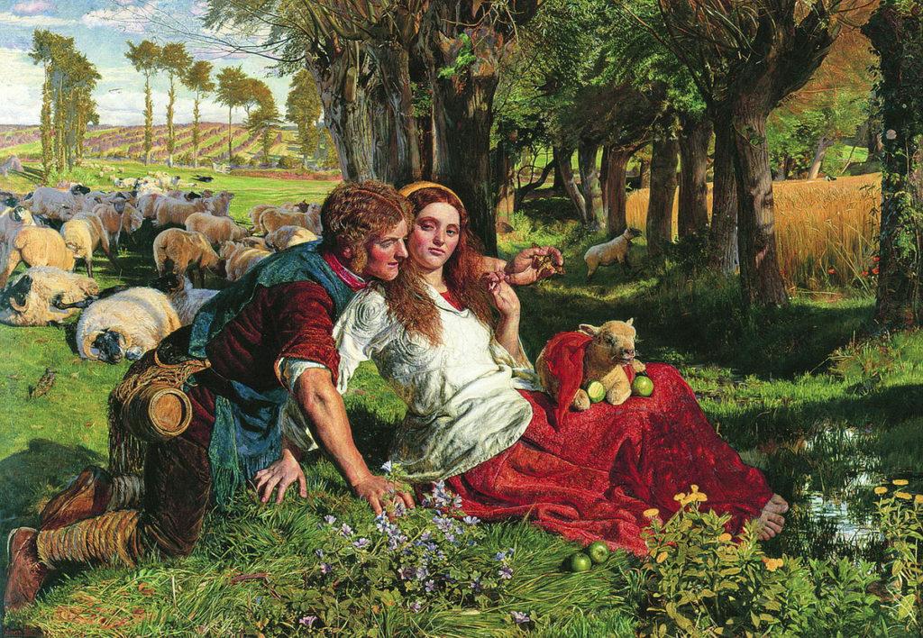 William Holman Hunt, The Hireling Shepherd, 1851