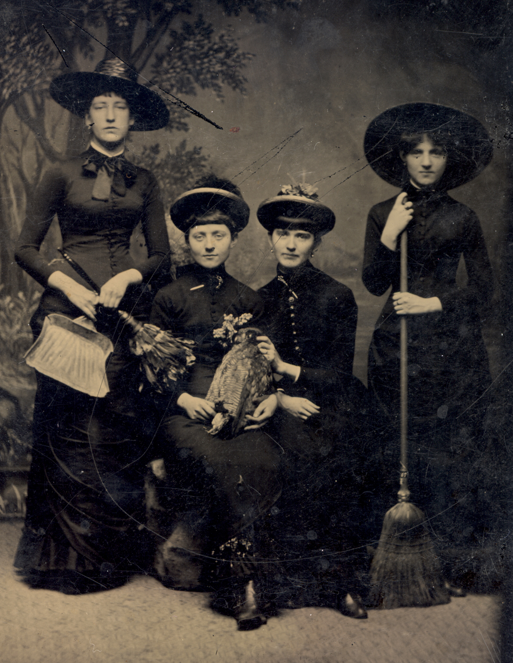 English witches, tintype, 1875