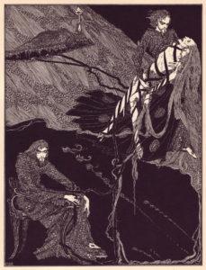 Harry Clark's illustration for Annabel Lee