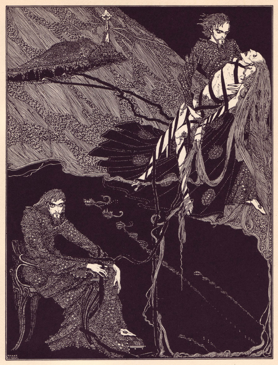 Harry Clark's illustration for Annabel Lee